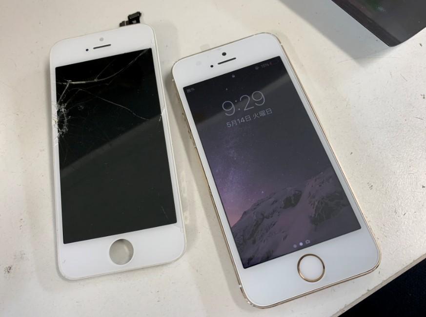 液晶画面交換修理後の操作出来るように改善したiPhone5s