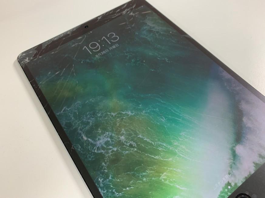 液晶画面が割れてしまったiPad Pro 10.5インチ