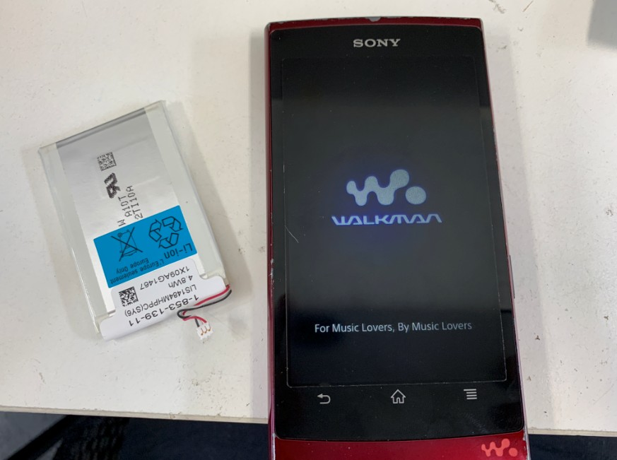 バッテリー交換修理後の充電持ちが大幅に良くなったNW-Z1050