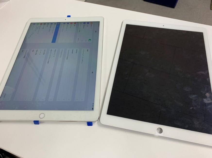液晶画面交換修理で無事操作出来るように改善したiPad Pro 12.9 第1世代