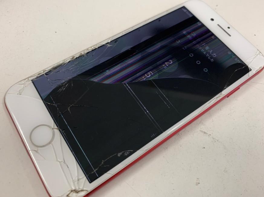 フロントパネル(LCD)が壊れて操作出来ないiPhone7