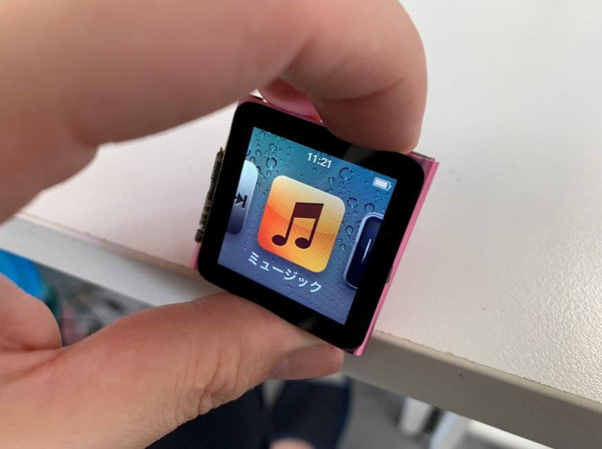 スリープボタンが使用出来るようになったiPod nano第6世代