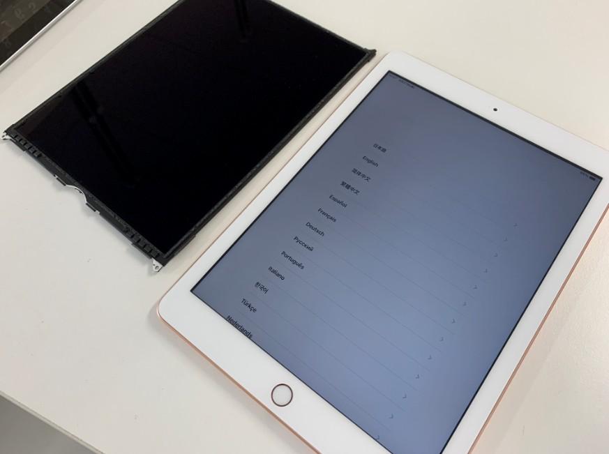 液晶画面交換修理後の表示されるようになったiPad 第6世代