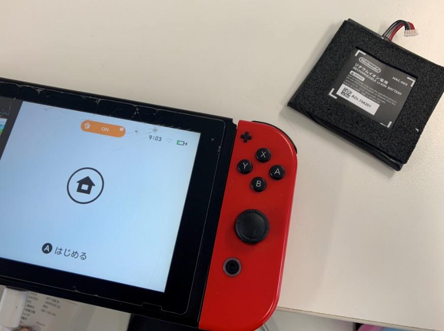 バッテリー交換で電源が入るようになったNintendo Switch