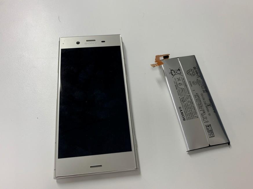 内蔵バッテリー交換修理後の充電持ちが改善したXperia XZ1(SO-01K)