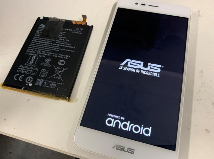 内蔵バッテリー交換で電源が入るようになったZenfone3Max(ZC520TL)
