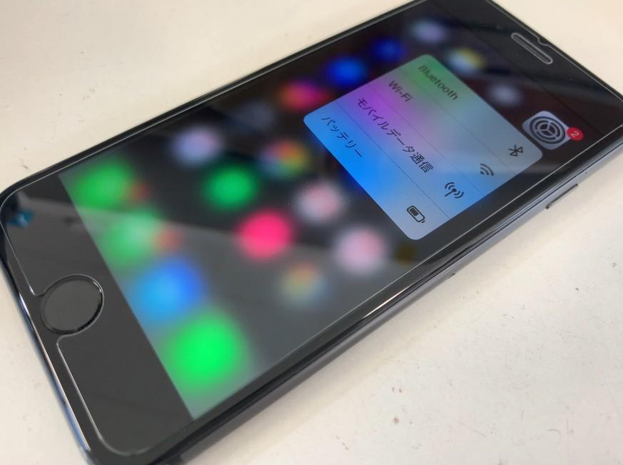 液晶画面交換修理後のiPhone8