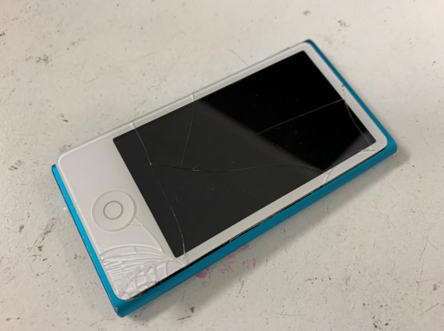表面ガラスが割れてしまったiPod nano第7世代