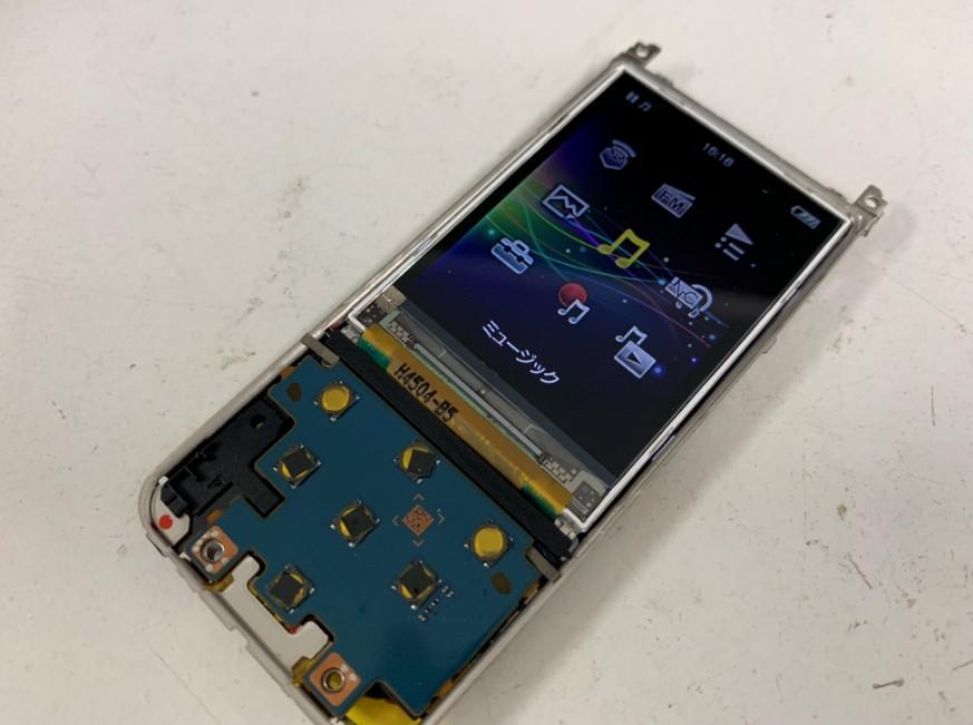 液晶画面交換で表示されるようになったNW-E083