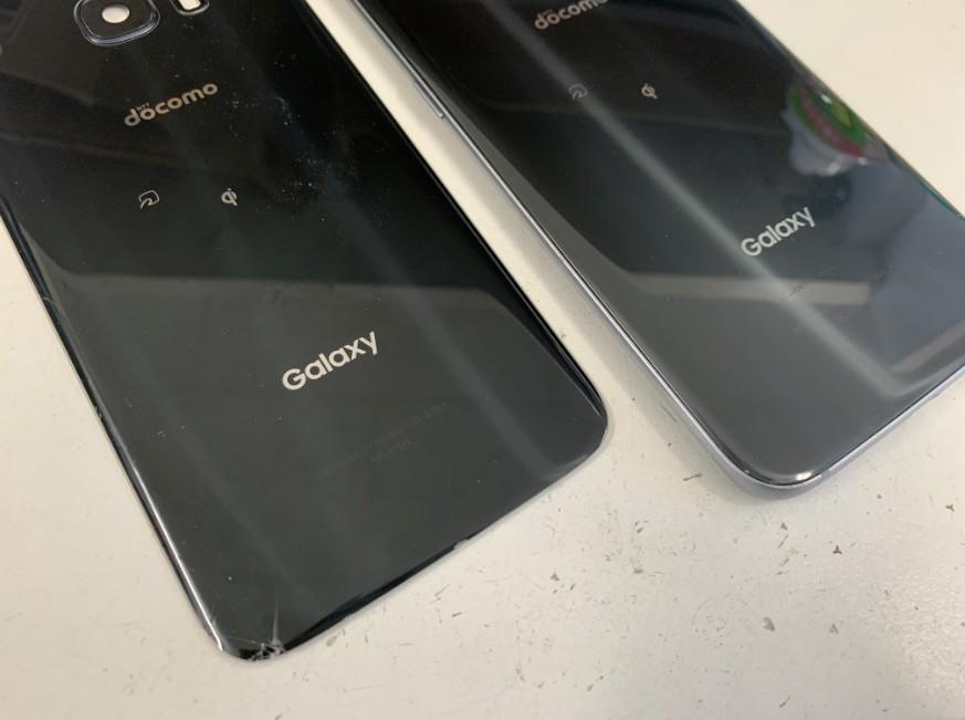 背面ガラス交換修理後のGalaxy S7 Edge
