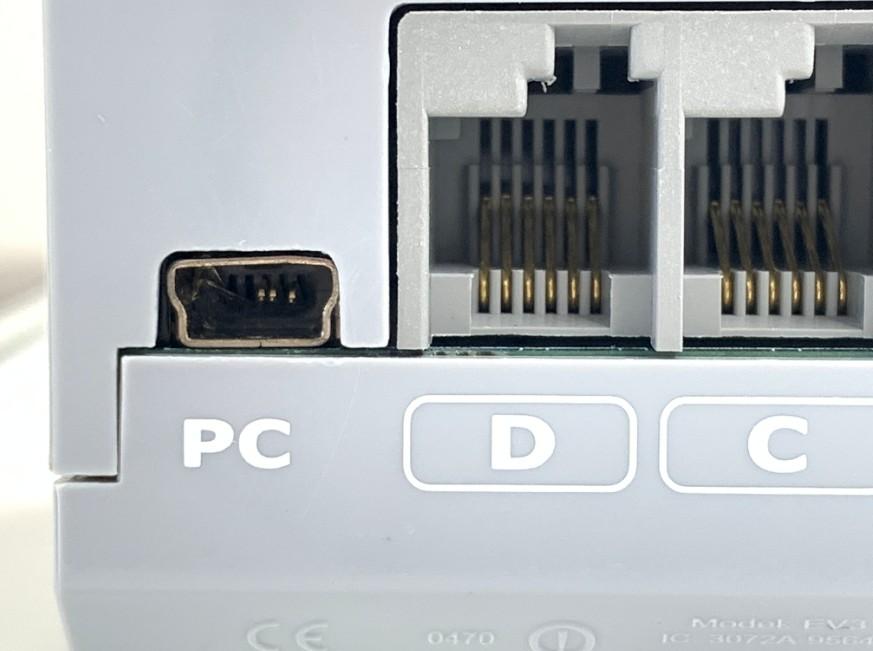 miniUSB端子が壊れてしまってパソコンに接続出来ないレゴ マインドストーム EV3