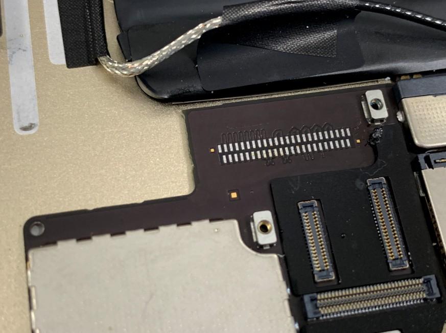 ドックコネクターパーツを取ってクリーニングしたiPad Air2