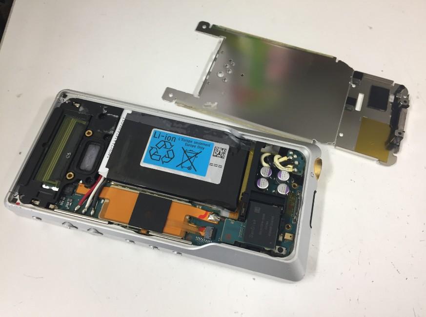 本体内の銀のプレートを外したNW-ZX1