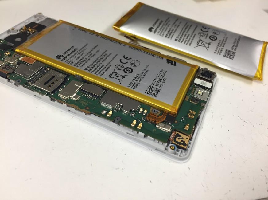正常なバッテリーに交換したHUAWEI AscendG6