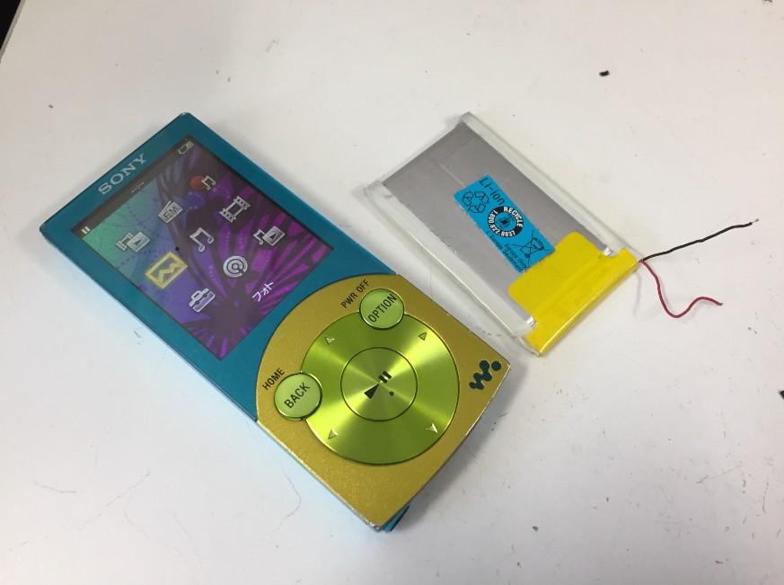 内蔵バッテリーを交換して電源が入るように改善したウォークマン NW-S644
