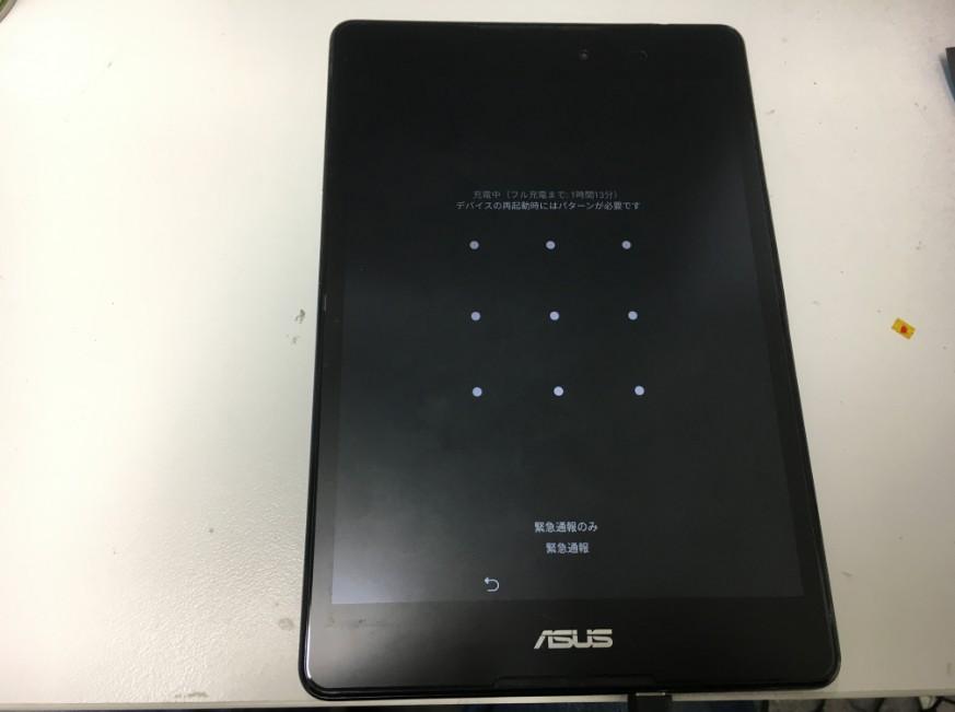 バッテリーそ新品に交換して電源が入るようになったZenpad(Z581KL)