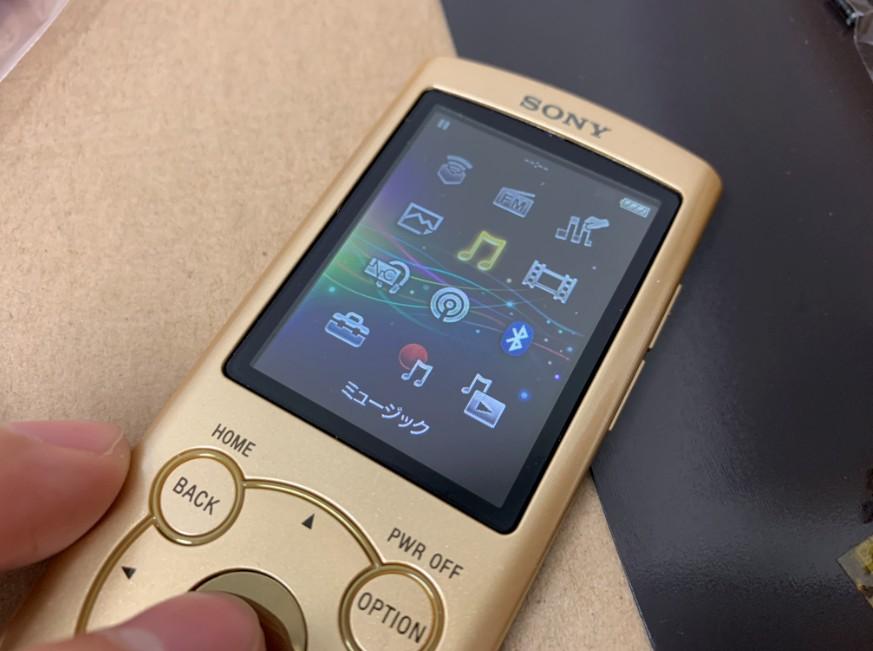 チップ交換で電源が入るようになったWALKMAN NW-S746