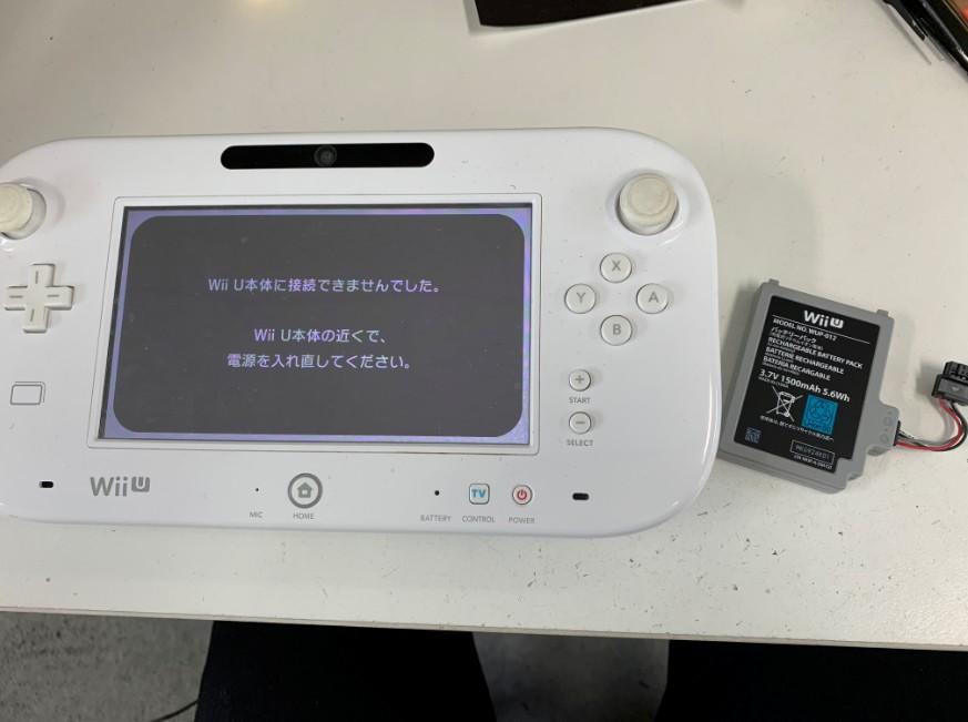 バッテリー交換で電源が入るようになったWiiUのゲームパッド