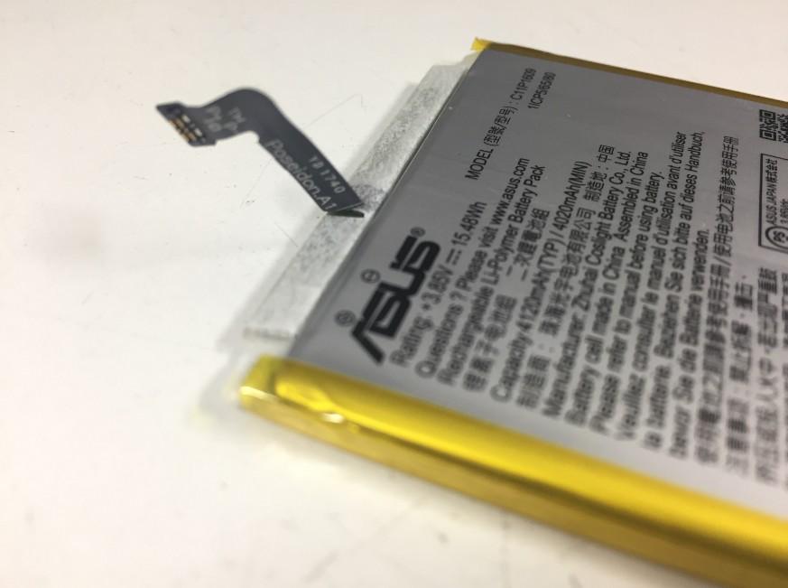 バッテリーの根元が断線しているZenfone4Max