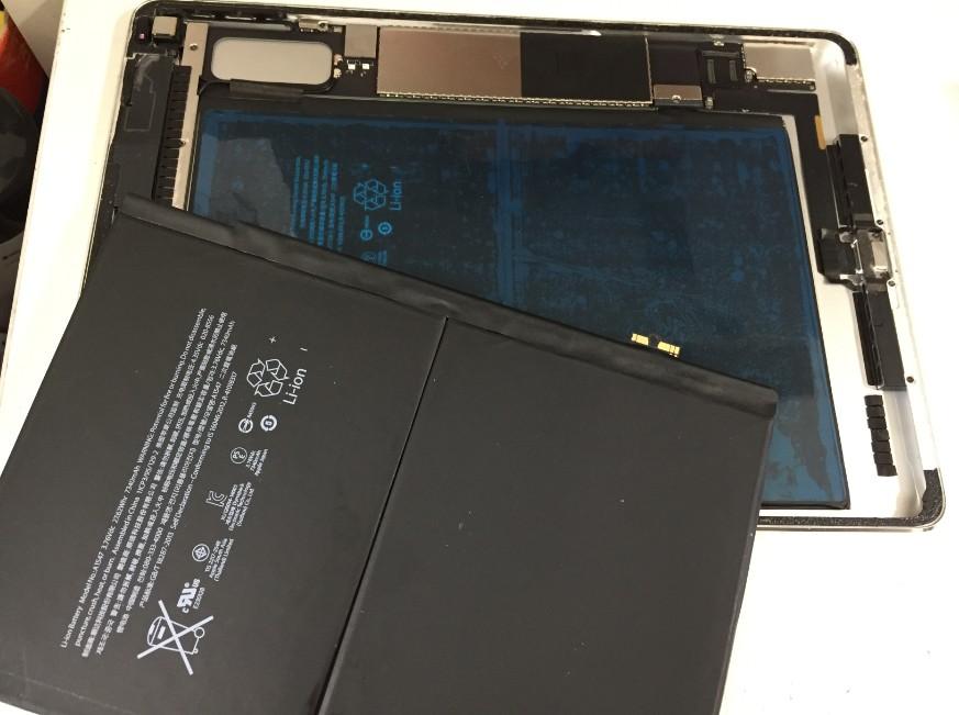 内蔵バッテリーを交換したiPadAir2