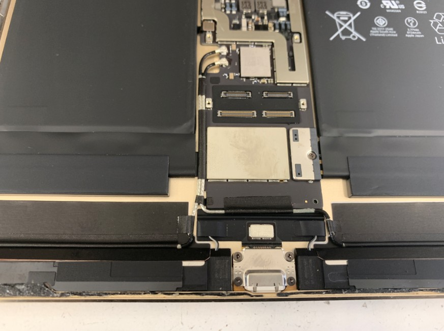 iPadPro10.5インチの本体下部のアップ