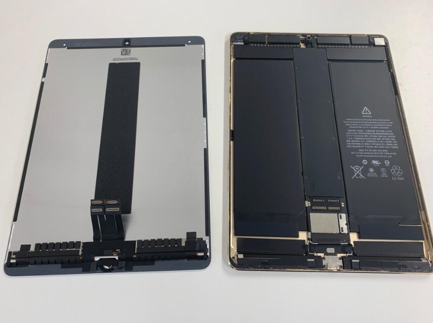 液晶画面を本体から取り出したiPadPro10.5インチ