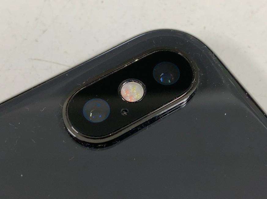 外カメラレンズ交換修理後のiPhoneX