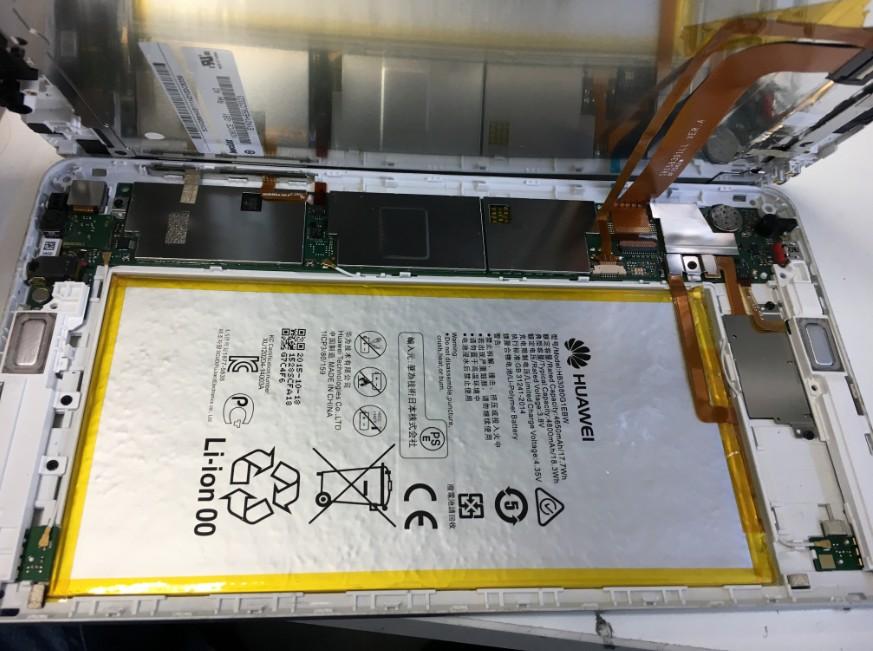 液晶画面を剥がしたdtab(d-01G)
