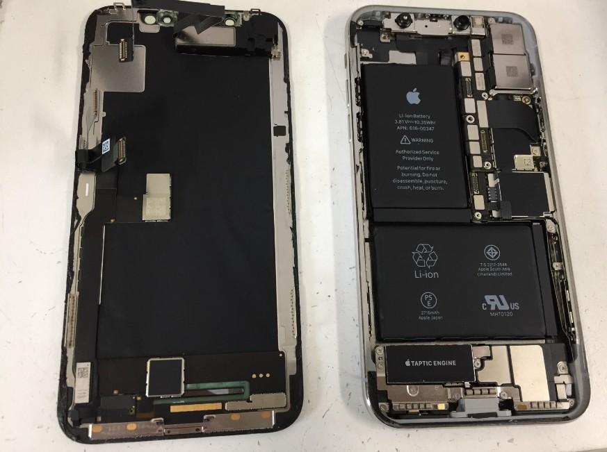 画面パーツを取り出したiPhoneX