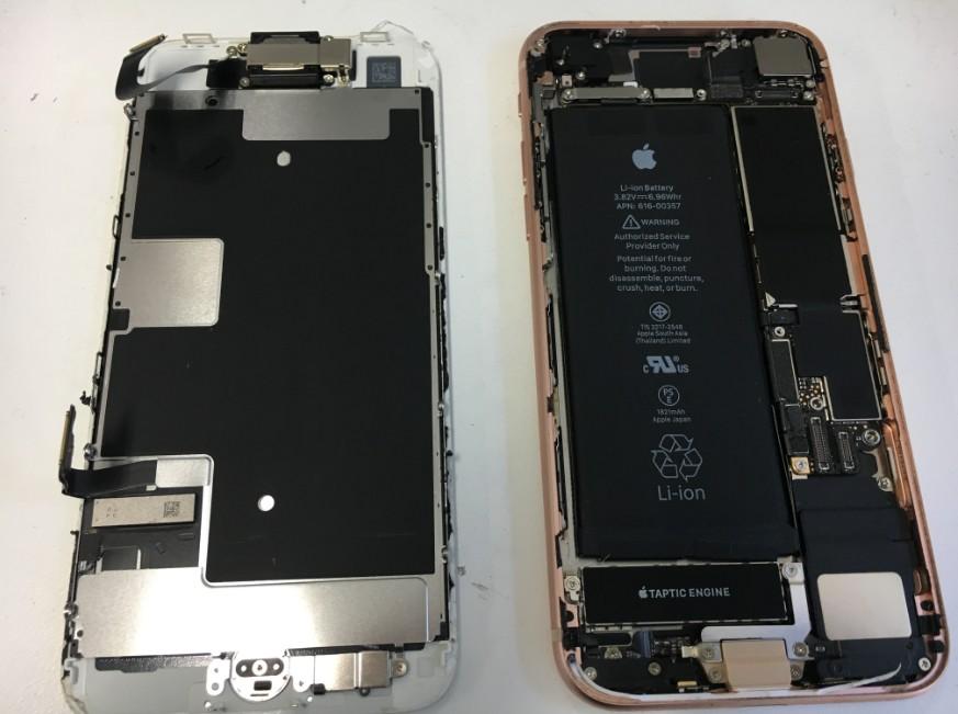 画面を取り出したiphone8