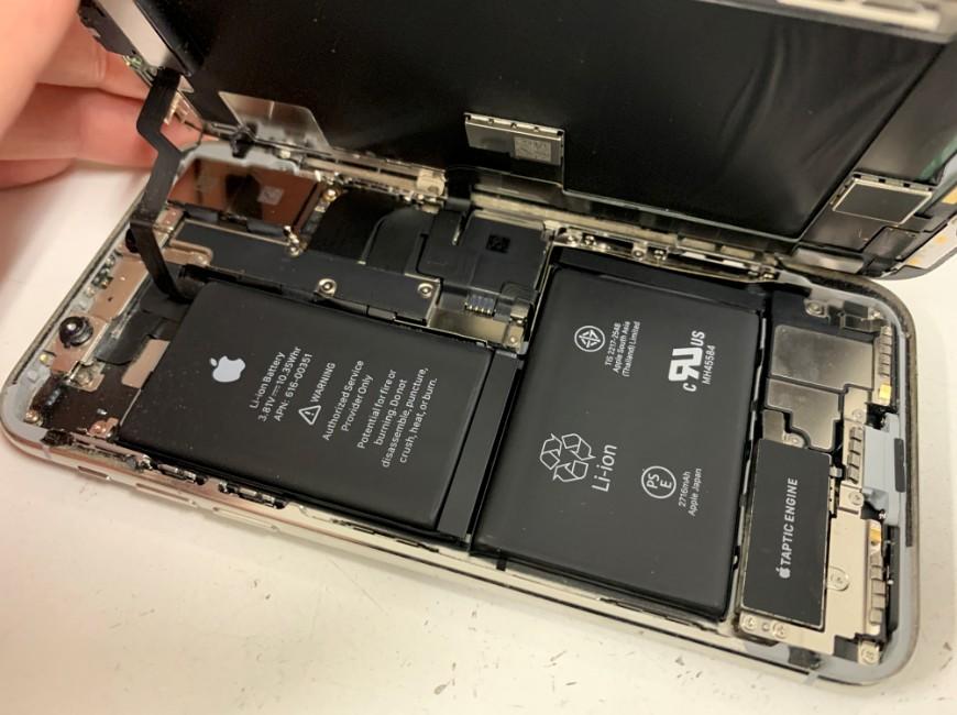 画面を開いたiPhoneX