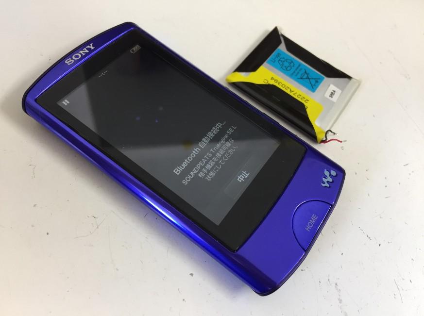 バッテリー新品交換後のNW-A867