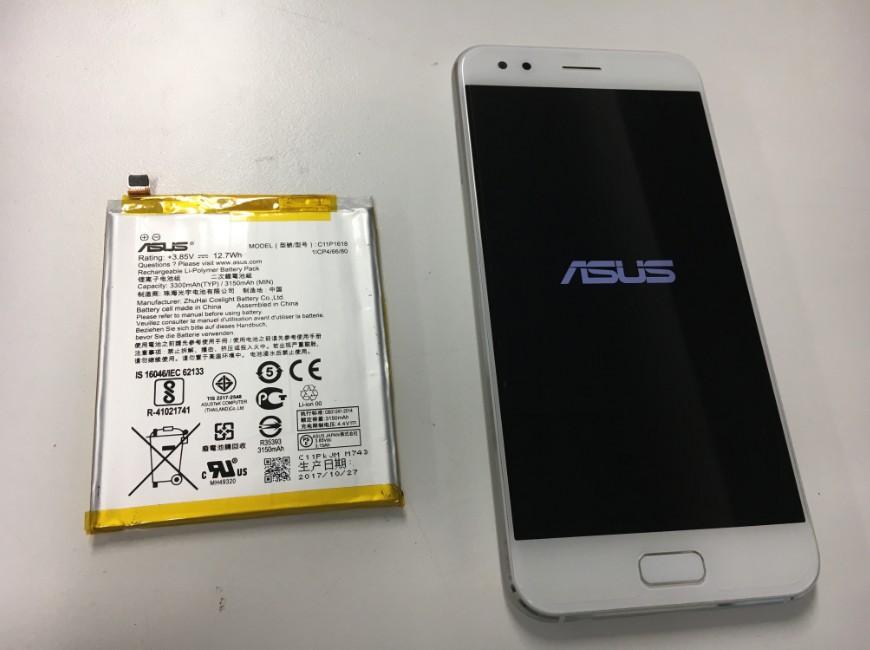 バッテリー新品交換後のZenfone4