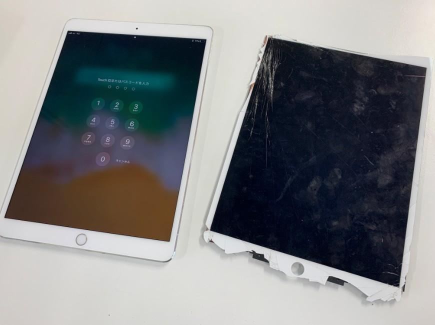 画面交換修理後の新品のようになったiPad Pro 10.5