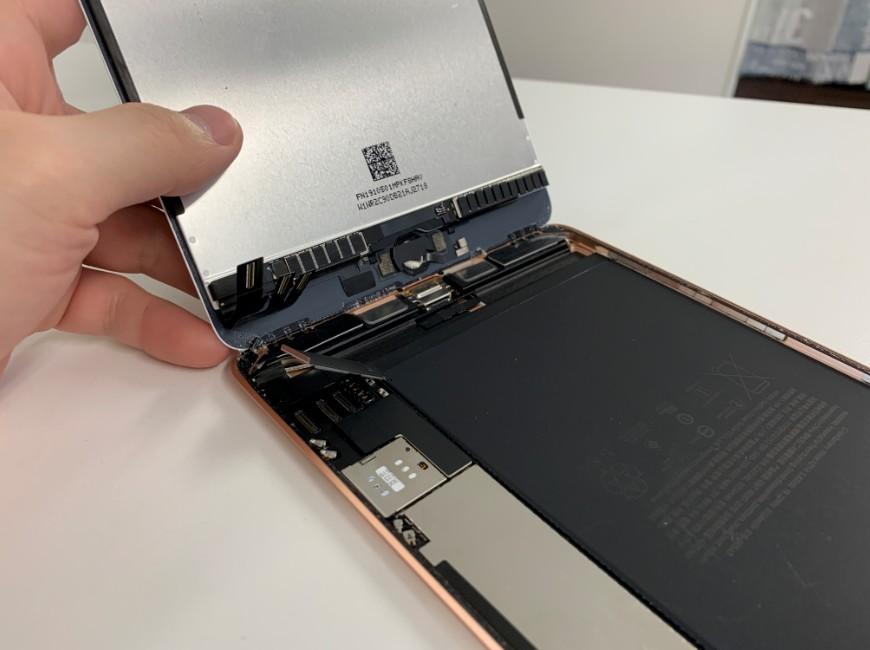 画面パーツを大きく開いたiPad mini5