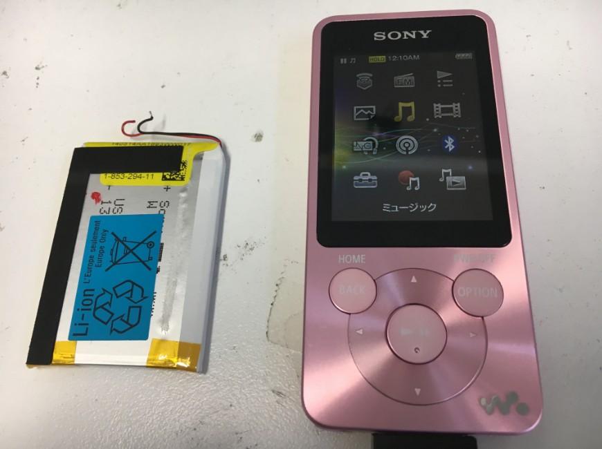電池新品交換後のNW-S786