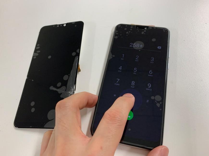 画面新品交換後のZenfone Max Pro M2(X01DBA)