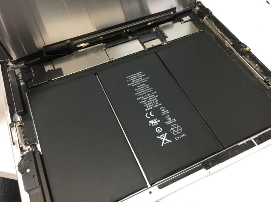 液晶を持ち上げたiPad3