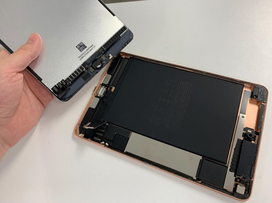 本体から画面を剥がしたiPad mini5