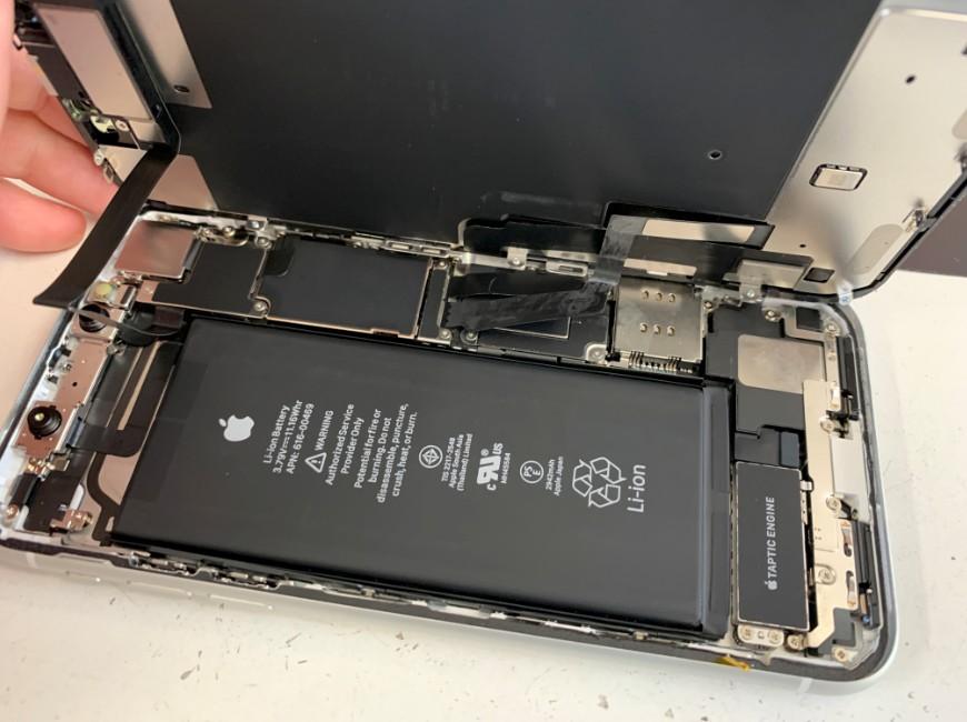 画面を開いたiPhoneXR