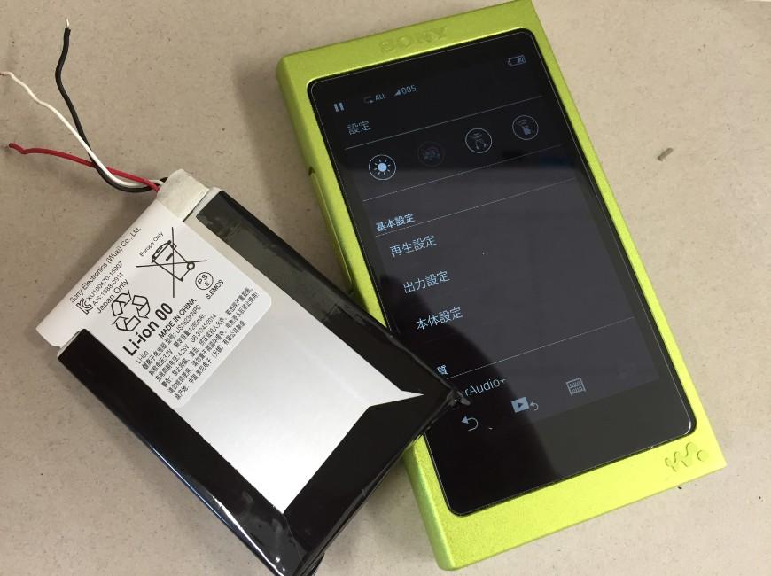 バッテリー新品交換後のWALKMAN NW-A35