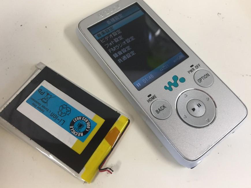 バッテリーを新品に交換したWALKMAN NW-S638F