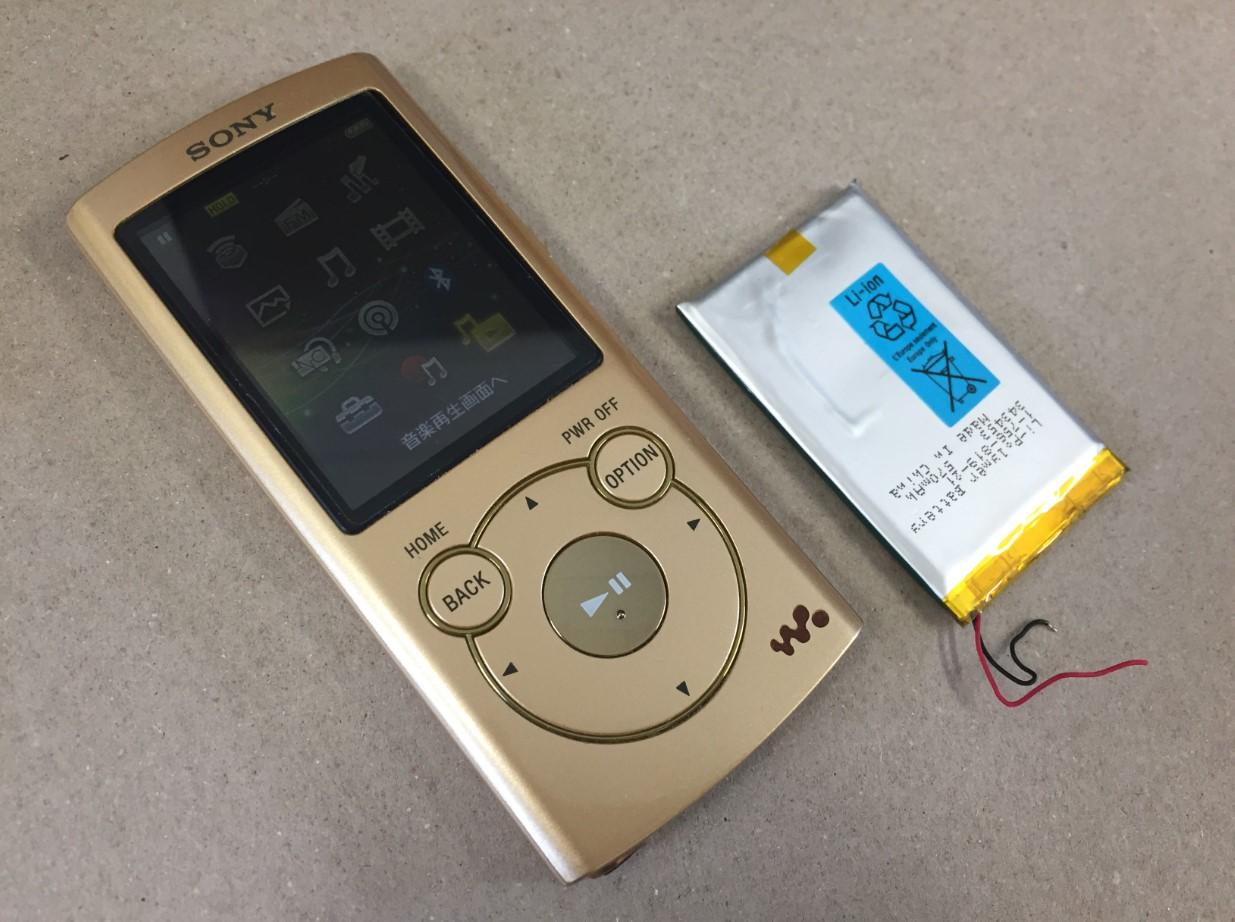 バッテリー新品交換後のWALKMAN NW-S764