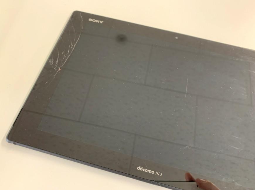 画面が割れて操作出来なくなったXperia Z2 Tablet