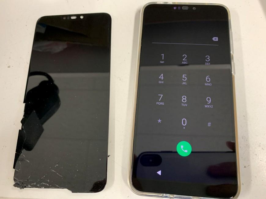 画面新品交換後のZenfone Max M2(ZB633KL)