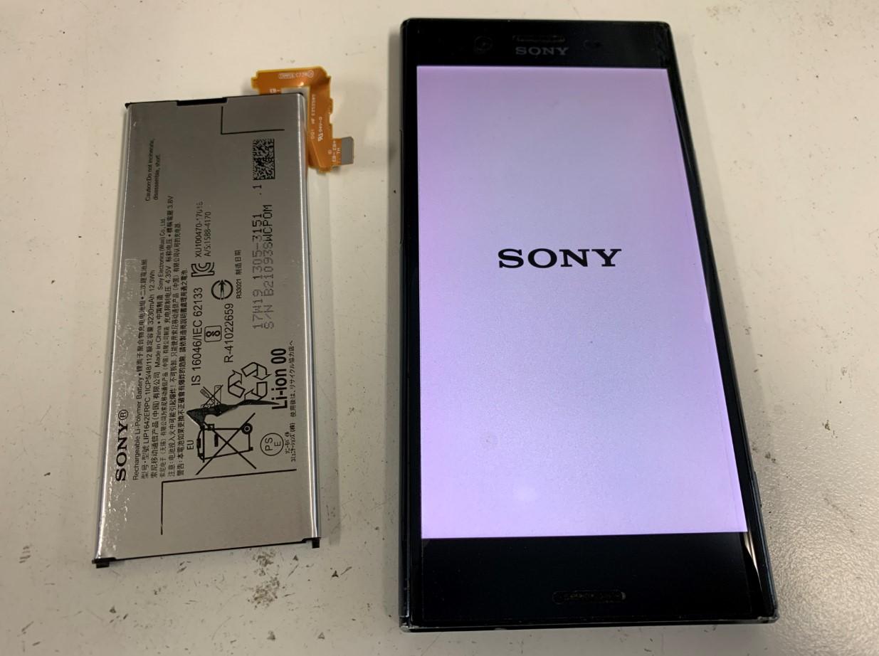 バッテリー新品交換後のXperia XZ Premium(SO-04J)