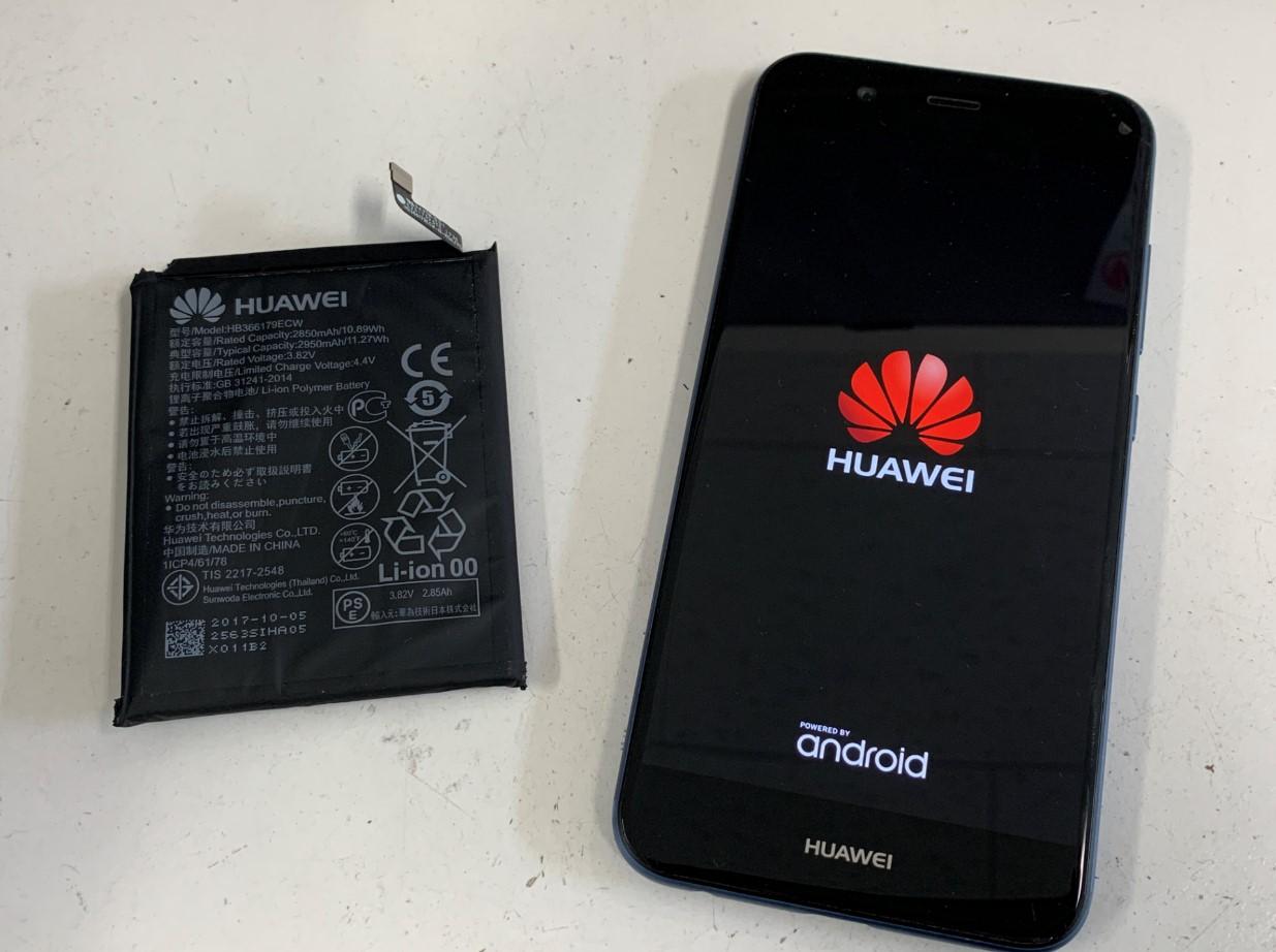 バッテリー新品交換後のHUAWEI nova2
