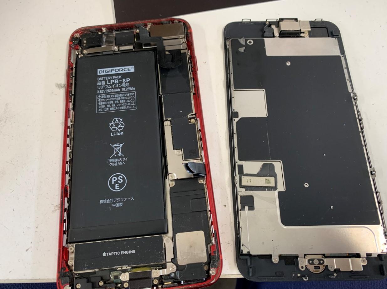 液晶画面が取れたiPhone8Plus
