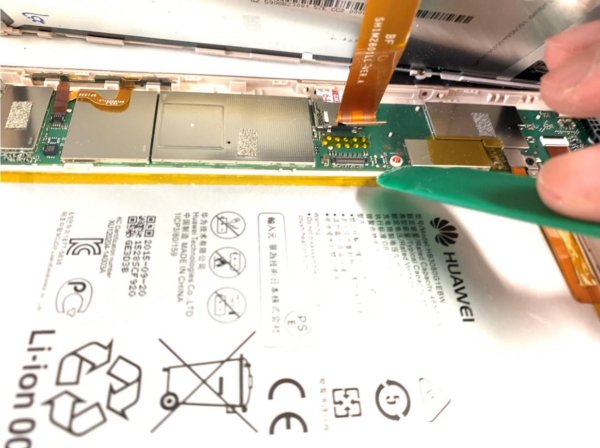 液晶画面コネクタを外したMediaPad M2 8.0