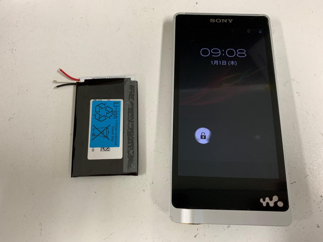 ウォークマン電池交換修理手順㉘